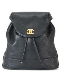 рюкзак с цепочной отделкой Chanel Vintage