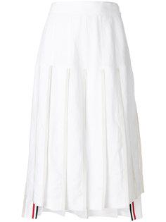 плиссированная юбка с заниженным задником Thom Browne