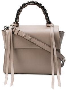 сумка-тоут с цепочной отделкой Elena Ghisellini