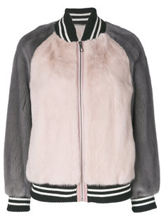 куртка-бомбер колор блок  Liska