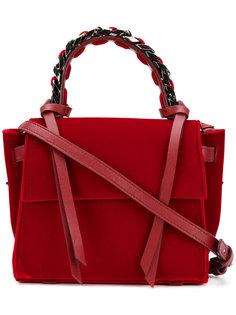 мини-сумка-тоут с декоративной цепочкой Elena Ghisellini