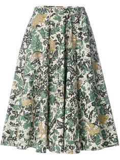 юбка с принтом зверей Burberry