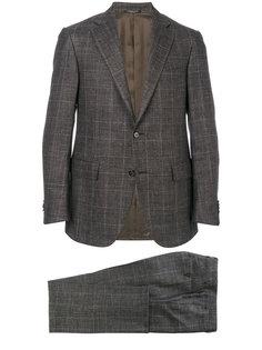 plaid two-piece suit Corneliani