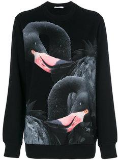 толстовка с принтом с фламинго Givenchy