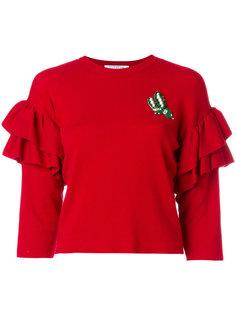 свитер с рюшами и укороченными рукавами Vivetta