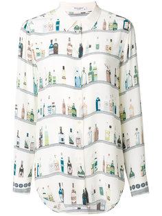блузка с принтом бутылок Equipment
