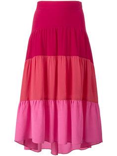 многослойная юбка с асимметричным подолом Peter Pilotto