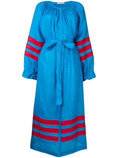 платье шифт в полоску с вышивкой  Vita Kin