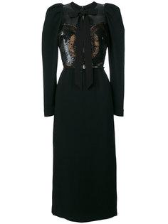 платье с отделкой бисером  Elie Saab