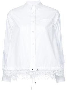 рубашка с кружевной отделкой  Sacai