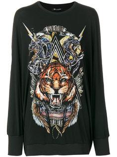 свитер с изображением льва и логотипом Balmain