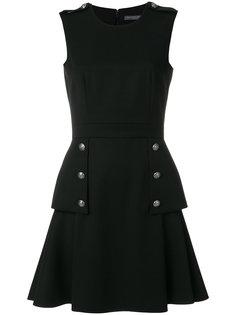 платье с баской в стиле милитари  Alexander McQueen