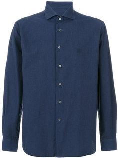 logo chest embroidery shirt Corneliani