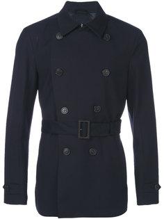watertight double-breasted short coat Corneliani