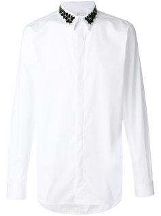 приталенная рубашка с декорированным воротником Givenchy