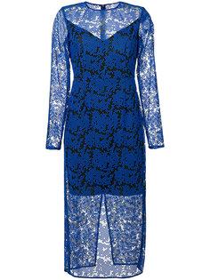 кружевное платье миди  Diane Von Furstenberg