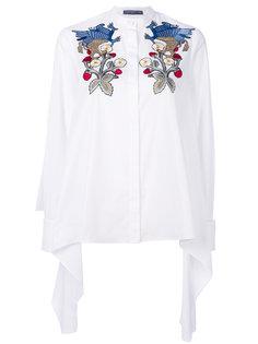 блузка с цветочной вышивкой  Alexander McQueen