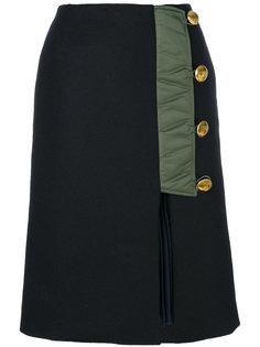 асимметричная юбка на пуговицах  Sacai