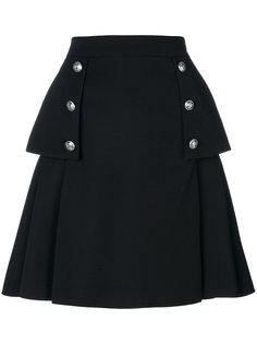 А-образная юбка с пуговицами   Alexander McQueen