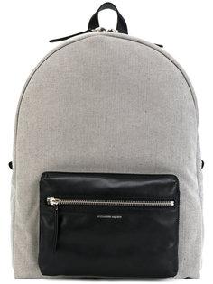рюкзак с контрастным передним карманом Alexander McQueen
