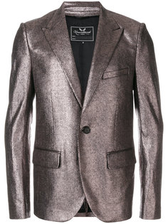 peaked lapel metallic jacket Unconditional