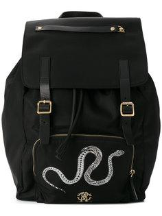 рюкзак с принтом змеи Roberto Cavalli