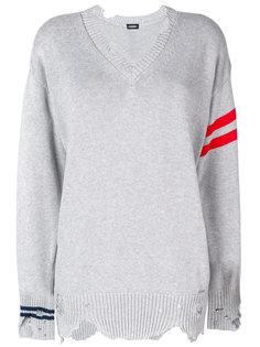 свитер с полосками и эффектом потертости Diesel