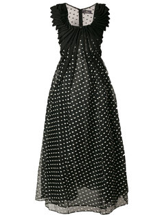 платье из органзы в горошек  Capucci