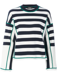 striped wool sweater Dsquared2