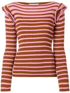 ребристый свитер с горизонтальными полосками MSGM