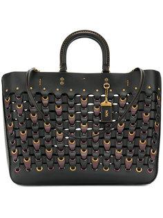 сумка-тоут с цепочными звеньями Coach