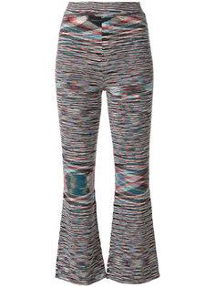 укороченные тканые брюки Missoni
