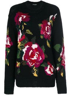 свитер с цветочным принтом Dolce & Gabbana