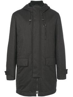 flap pockets hooded coat Corneliani