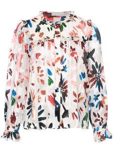 блузка с цветочным принтом и оборками Alice+Olivia