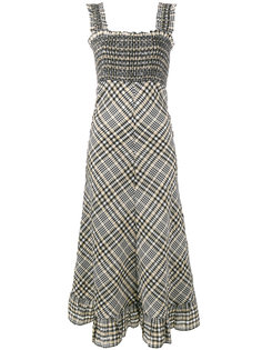 клетчатое платье Charron Ganni