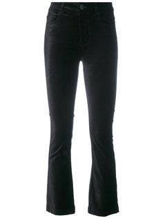 укороченные расклешенные бархатные брюки Paige