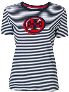 полосатая футболка с логотипом Tory Burch