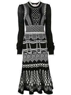 вязаное жаккардовое платье-миди Silvermist Temperley London