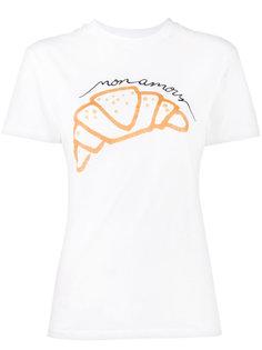 футболка с принтом круасана  Ganni