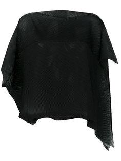 асимметричная блузка с короткими рукавами Issey Miyake Cauliflower