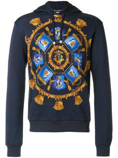 insignia print hoodie Dolce & Gabbana