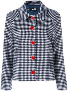 куртка в клетку на пуговицах  Love Moschino