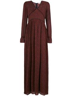 приталенное длинное платье Michael Michael Kors