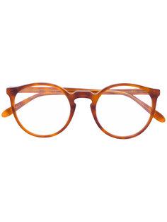 tortoiseshell round glasses Lesca