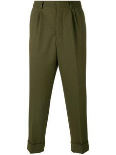 классические брюки с отворотами Ami Alexandre Mattiussi