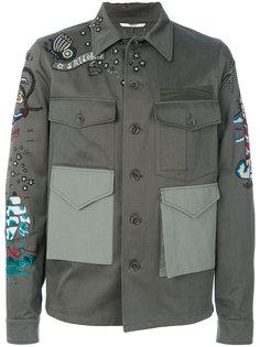 куртка с вышивкой и накладными карманами Valentino