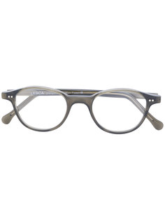 round frame glasses Lesca
