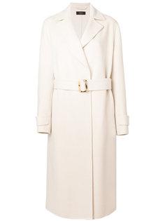 длинное пальто с поясом Joseph