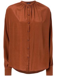 присборенная блузка на пуговицах  Joseph
